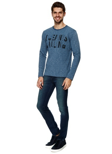 North Of Navy Bisiklet Yaka Sweatshirt İndigo